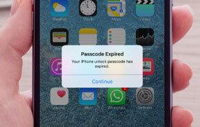 PassFab iPhoneパスコードが期限切れ